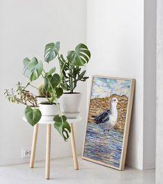 Collage Artwork, New Poster, Portugal, Algarve, Home Goods, Birds, Gull, Frame, Artist