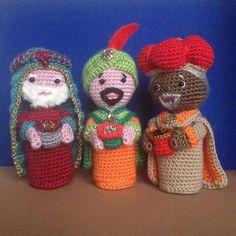Tři králové Crochet Pig, Crochet Animals, Crochet Dolls, Crochet Yarn, Christmas Nativity, Kids Christmas, Christmas Ornaments, Yarn Crafts, Knitting Patterns