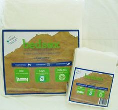 Holiday Gift Idea for College Students - save time by skipping the laundry. Bedsox biodegradable bed sheets go in the trash or compost instead of the laundry.  Use for weeks and simply throw away.  100% Biobased-certified. Order on Amazon or www.BeantownBedding.com.