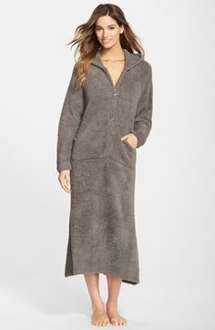 Barefoot Dreams® CozyChic® Hooded Zip Robe available at  Nordstrom Sleepwear  Women 63cb8ea07