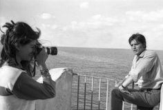 Alain Delon And Claudia Cardinale In Sicily For The Shooting Of The Film 'Le Guepard' By Visconti Lu Claudia Cardinale, Alain Delon, Classic Hollywood, Old Hollywood, Luchino Visconti, Face Art, Art Faces, Brigitte Bardot, Sicily