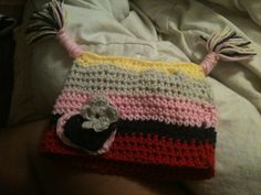 crochet toddler hat with tassels super easy pattern!!