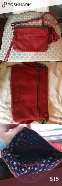 Lucky brand boho bag Lucky brand boho bag. Never worn! Fringe accents. Bags Clutches & Wristlets