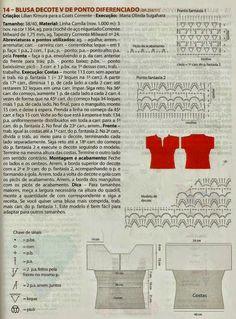 Tecendo Artes em Crochet: Blusas
