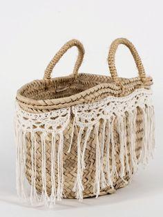 Panier brodé A la mer   Cestos   Pinterest   Summer bags, Rose and Bag