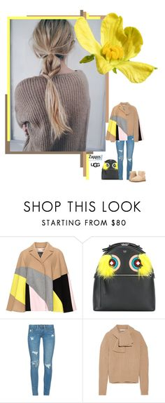 """The Icon Perfected: UGG Classic II Contest Entry"" by izoche ❤ liked on Polyvore featuring Persona, Fendi, BLANKNYC, J.W. Anderson, UGG Australia, ugg and contestentry"