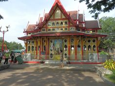 Scenic Railway Station in Hua Hin, Thailand Thailand, Cabin, House Styles, Home Decor, Decoration Home, Room Decor, Cabins, Cottage, Home Interior Design