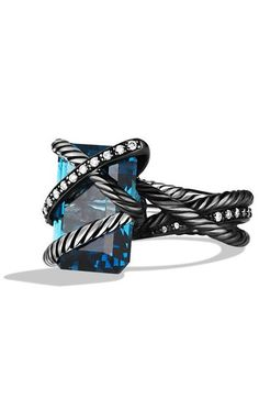 Blue Topaz Cable Wrap Ring