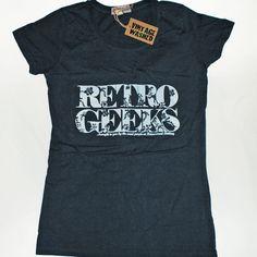 Retro Geeks Vintage Wash T-Shirt Geeks, Neck T Shirt, Vintage Ladies, Crew Neck, Geek Stuff, Retro, Mens Tops, Shirts, Fashion
