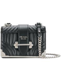 PRADA Cahier quilted shoulder bag. #prada #bags #shoulder bags #leather #