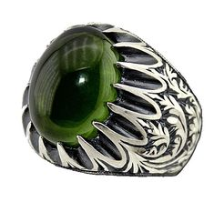 This men ring is made of solid 925 Sterling Silver and ists made in Erzurum ,in a City in Turkey ,which is famous with handmade workmanship rings.