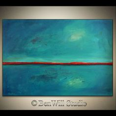 Abstract TURQUOISE Painting Art ORIGINAL Large Oil by benwill, $350.00