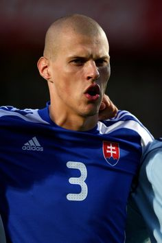 Martin Skrtel Photos - Martin Skrtel of Slovakia during the World Cup Qualifier between Northern Ireland and Slovakia at Windsor Park on September 2009 in Belfast, Northern Ireland. - Northern Ireland v Slovakia - World Cup Qualifier Liverpool Football Club, Liverpool Fc, This Is Anfield, World Cup Qualifiers, National Football Teams, World Football, Uefa Champions League, Northern Ireland, Soccer