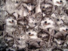 Wolf  Wolves Husky Malamute 2 Styles Fleece Throw