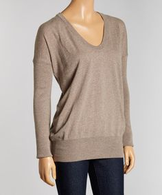 Look what I found on #zulily! Heather Gray Wool-Blend V-Neck Sweater by B.D.Baggies #zulilyfinds