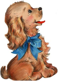 Animals And Pets, Baby Animals, Cute Animals, Cockerspaniel, Vintage Dog, Cartoon Dog, Dog Art, Cute Dogs, Dogs And Puppies