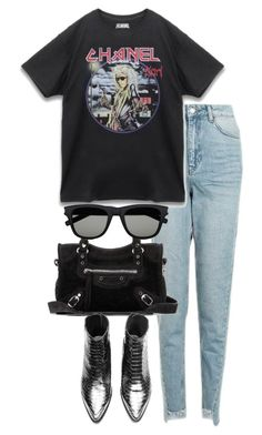 """""""Untitled #2936"""" by theeuropeancloset ❤ liked on Polyvore featuring Topshop, Balenciaga and Yves Saint Laurent"""