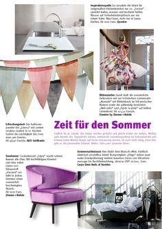 Zeit für den Sommer - Etamine by Zimmer+Rohde | Quooker | ADO Goldkante | Carpe Diem Beds of Sweden | Zimmer + Rohde