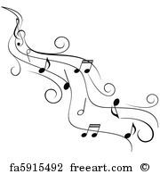 Free art print of Ornamental music notes | Music | Music notes art