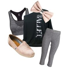 Ballet Style by shoppreppypandas on Polyvore featuring polyvore fashion style H&M
