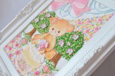 極細カタン糸で編んだお花とアップリケに小花刺繍をしてみました☆miniature cotton crochet