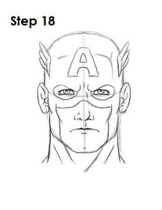 How to Draw Captain America Avengers Drawings, Avengers Cartoon, Drawing Superheroes, Drawing Cartoon Characters, Character Drawing, Cartoon Drawings, Easy Drawings, Drawing Sketches, Captain America Comic