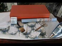 Tutorial: Reciclando cajas con entretelas, pintura Chalky y tela autoadhesiva | Manualidades