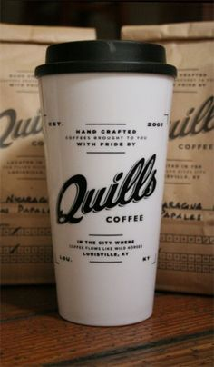 Quills Coffee Branding   Restaurant branding, marketing and other notes on various design topics