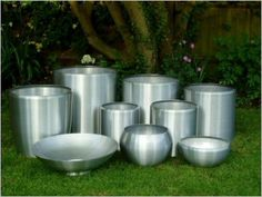 different shapes of aluminium planters http://www.goverhorticulture.com/Aluminium.html