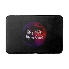 Stay Wild Moon Child Bath Mat - home gifts ideas decor special unique custom individual customized individualized