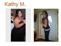 Real people, real results with P90X and Shakeology: Kathy, a 41-year old woman who lives in Michigan, lost 120 pounds, dropped from a size 24 to size 10, and her blood pressure and cholesterol are now in healthy ranges. Plus, her sons, who before felt the need to defend their mom from comments are proud of her and even 'steal' her P90X discs to work out themselves - she's setting a great example for them. (Plus she's now faster than her sons in a 50 yard dash!) Go Kathy!