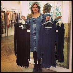 Dia de tricot: Duas sugestões da Ana Paula para se esquentar com estilo! Tricot Iorane preto R$199 Tricot Iorane azul R$199