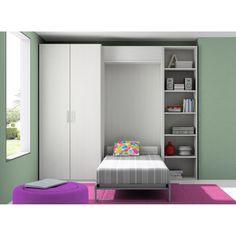 Dissery Dormitorio juvenil Closet Dormitorio infantil con cama abatible Closet de Dissery. Ideal para cuartos pequeños. Se compone de un armario con doble...
