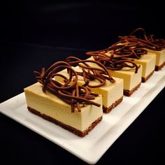 Hazelnut mousse cake for today buffet @stregisbalharbour #bachour   by Pastry Chef Antonio Bachour