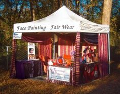 face painting booth :-) comfy and cute, def need to enlist V, Britz, Ci & Tracey for this one!