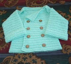 Infant's Double Breasted Sweater... free pattern