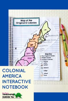 Colonial America Interactive Notebook - Let your or grade classroom or home school students use these printables, scaffolded notes, and interactive notebooks to learn about Colonial America. You get maps, graphic organizers, essential questi 3rd Grade Social Studies, Social Studies Notebook, Social Studies Classroom, Social Studies Activities, Teaching Social Studies, Classroom Themes, History Interactive Notebook, Interactive Notebooks, Math Notebooks