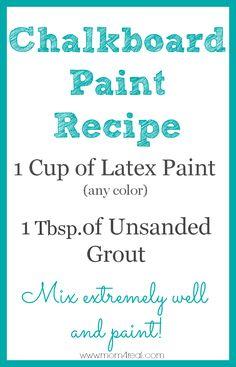 Chalkboard Paint Recipe