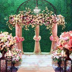 Pink Florals | Wedding Ceremony
