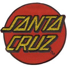Santa Cruz Classic Dot Logo Patch ($2.99) ❤ liked on Polyvore featuring men's fashion, men's clothing, red and santa cruz skateboards