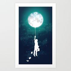 Burn+the+midnight+oil++Art+Print+by+Budi+Kwan+-+$19.97