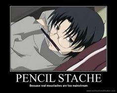 Anime/manga: Fruits Basket Character: Shigure Sohma, pencil stache!
