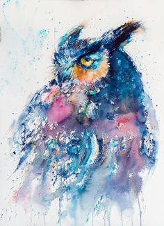 Great horned owl by kovacsannabrigitta.deviantart.com on @DeviantArt