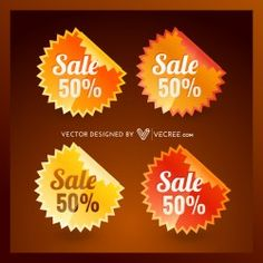 Colorful Sale Badge Free Vector