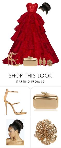 """""""Untitled #4481"""" by natalyasidunova ❤ liked on Polyvore featuring RALPH & RUSSO, Giuseppe Zanotti, Boohoo, Forever 21 and Sequin"""