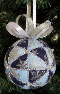 Sale Christmas Ornament Kit Blue Snowflakes by OrnamentDesigns