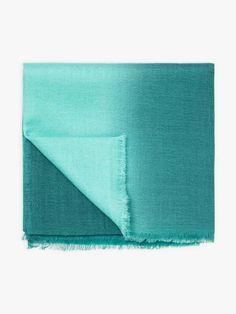 écharpe zoé bleue en laine | agnès b. Towel, Wool, Blue