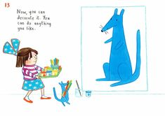 How to draw… blue kangaroo | Children's books | The Guardian Book Sites, You Draw, The Guardian, Kangaroo, Childrens Books, Embroidery, Comics, Drawings, Piercings