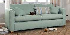 Buy Wentworth Occasional Sofa Bed - Medium (2 People) Boucle Blend Light Dove Small Block - Light from the Next UK online shop