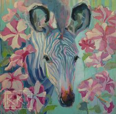 """""""Pinwheel,"""" x x with painting wrapped around the edges (no need to frame) starring a baby zebra and a mess of candy-striped p. Baby Zebra, Candy Stripes, Zebras, Fine Art Gallery, Pinwheels, Art For Sale, Storytelling, Art Projects, Original Art"""